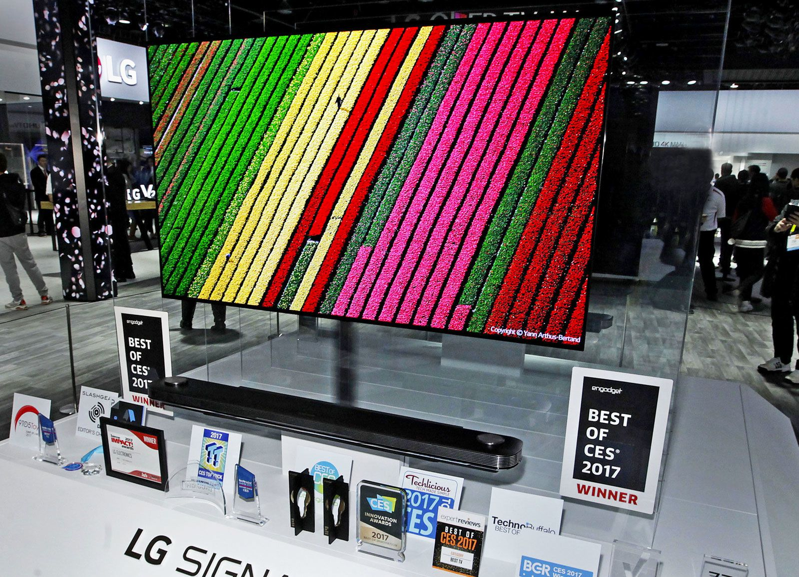 LG's 77inch Wallpaper TV is selling for the low price of