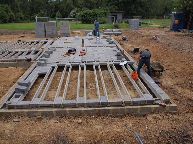Block beam floor vijver pinterest beams timber for Block and beam foundation vs slab