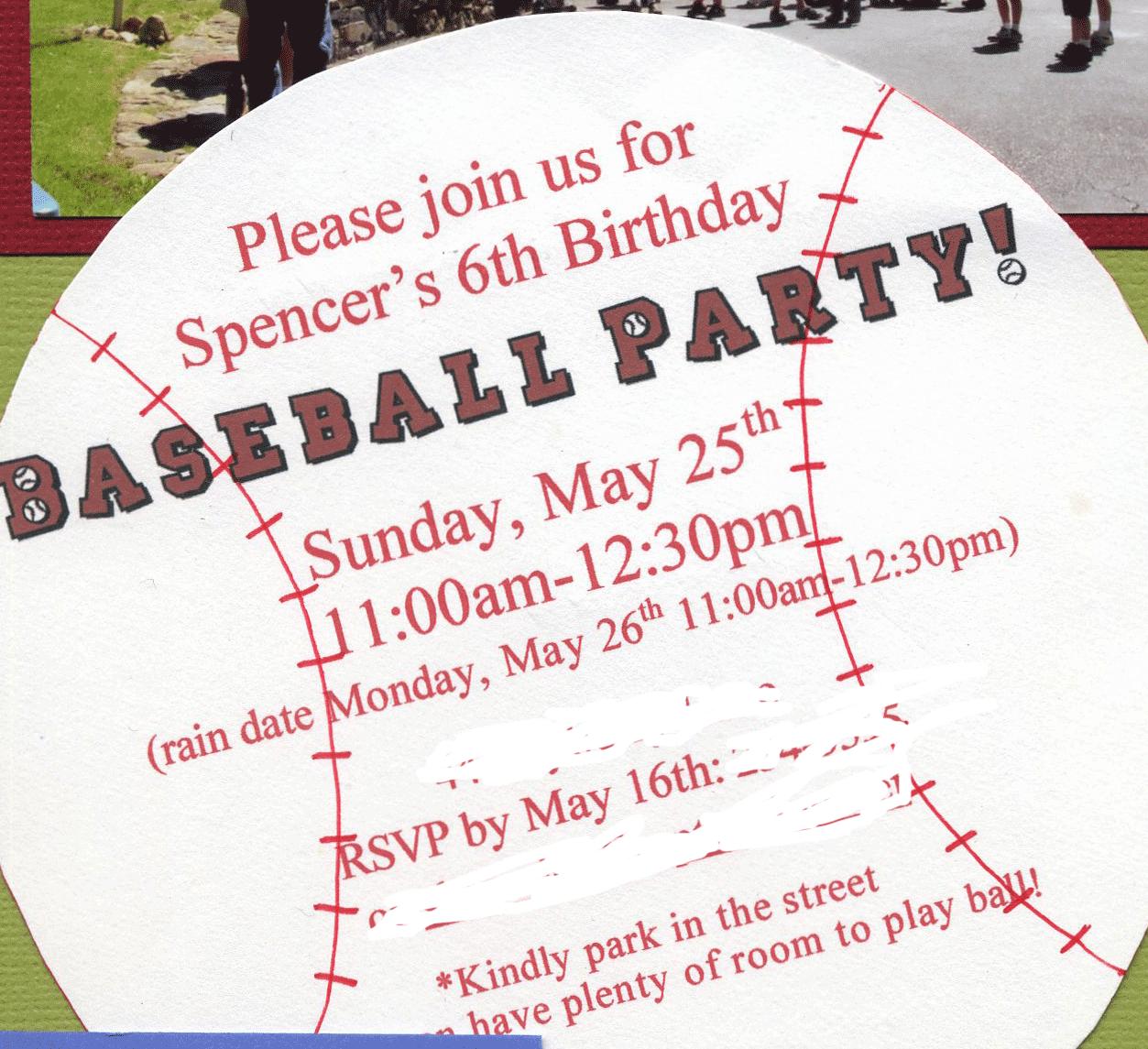Great 6 Year Old Birthday Party Idea: A Baseball Party | Baseball ...