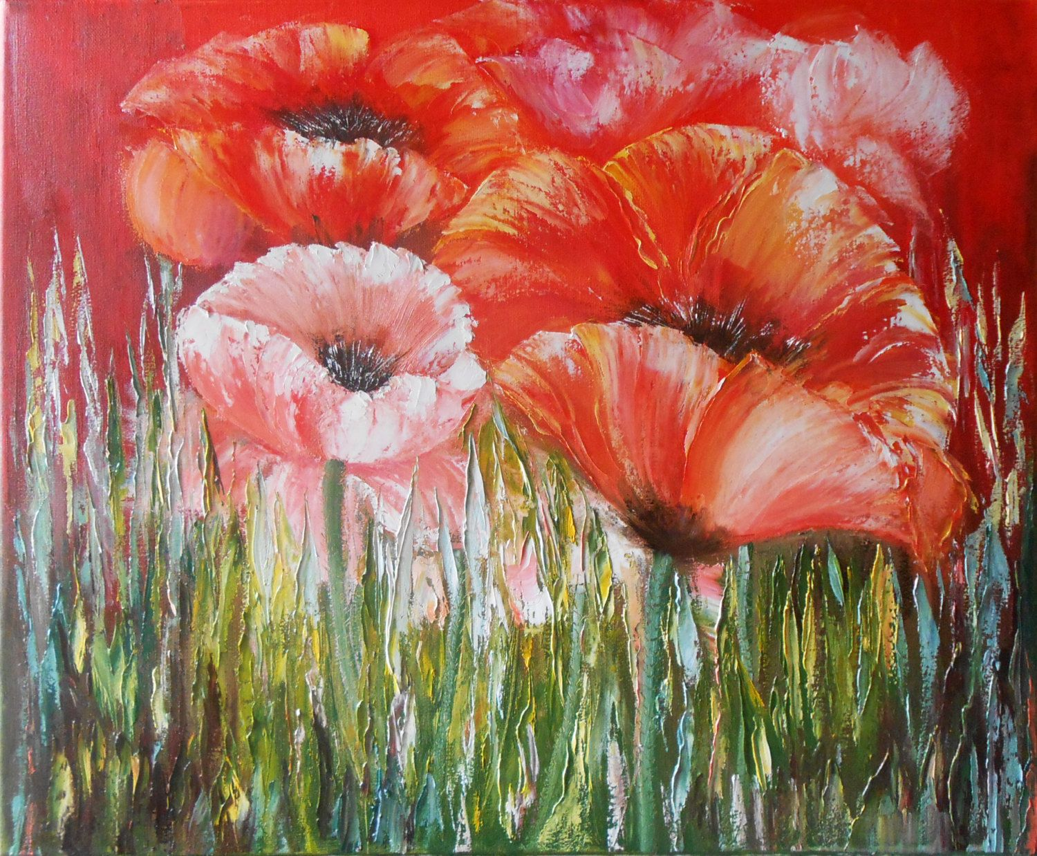 Original Modern oil Painting in style by PaintingInterior on Etsy, $290.00