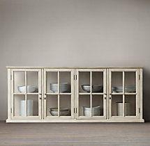 Hampton Casement Low Glass Cabinet