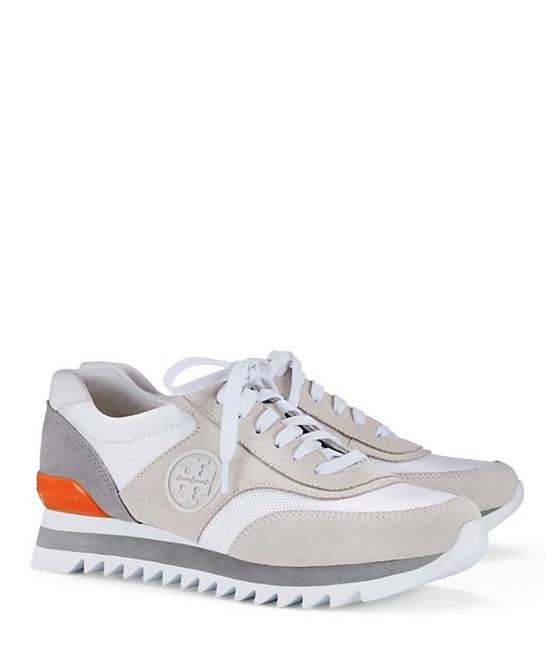 8c561b918125 Tory Burch Logo Sawtooth Sneaker