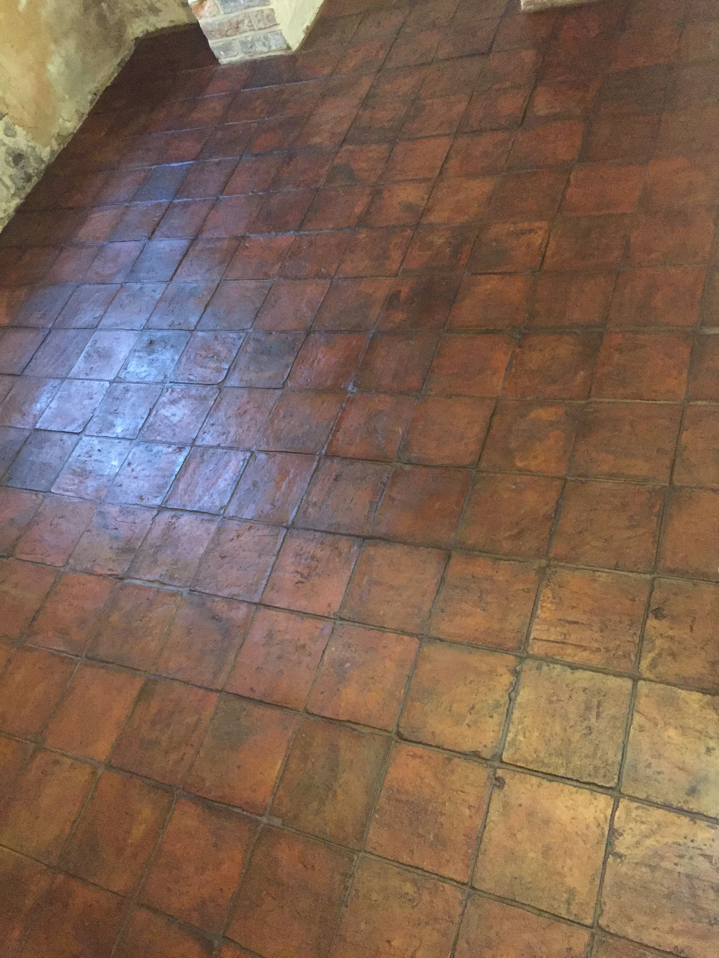 For The Kitchen Floor I Used Handmade Terracotta Tiles From Floors Of Stone Finished With Bal Grout In Pecan Stone Flooring Terracotta Tiles Kitchen Flooring