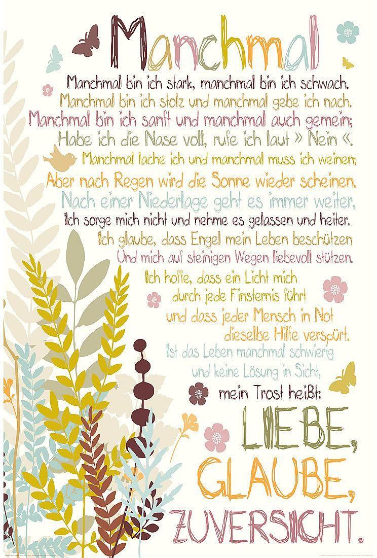 Home Affaire Deco Panel Manchmal Spruch Text Mit Dem Wort Manchmal Online Kaufen Otto Spruche Nachdenkliche Spruche Lebensweisheiten Spruche