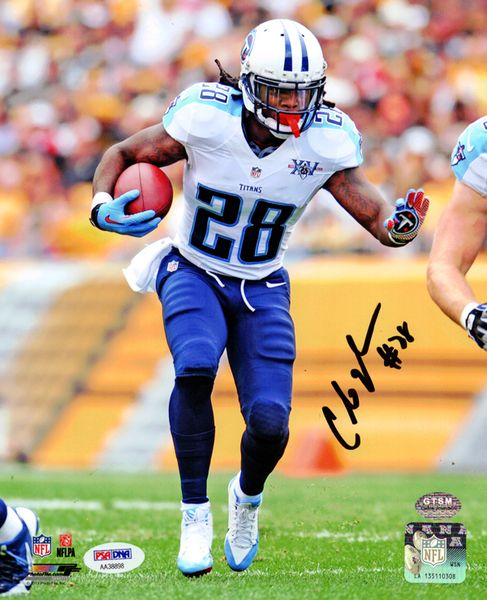 This is a 8x10 Photo that has been hand signed by Chris Johnson. It has been certified authentic by PSA/DNA and comes with their sticker and matching certificate.