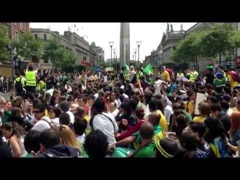 Manifestacao em apoio aos protestos no Brasil ( Dublin ) - YouTube