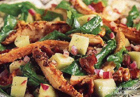 Овощной салат с копченой курицей | Еда, Здоровое питание ...