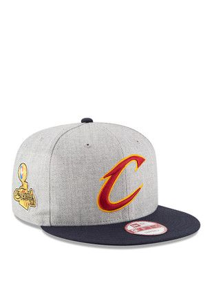 0d5ebd64a55 New Era Cleveland Cavaliers Grey 2016 NBA Champions Side Patch 9FIFTY  Snapback Hat