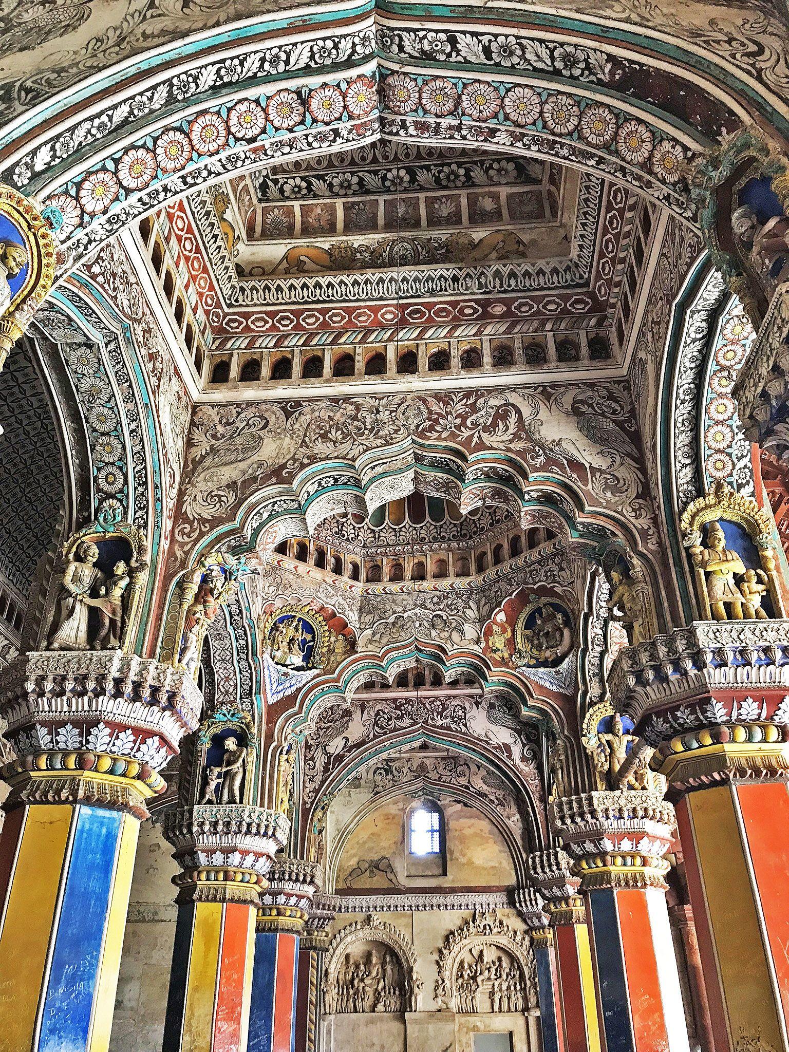 Tanjore (Thanjavur) Royal Palace interior, Tamil Nadu