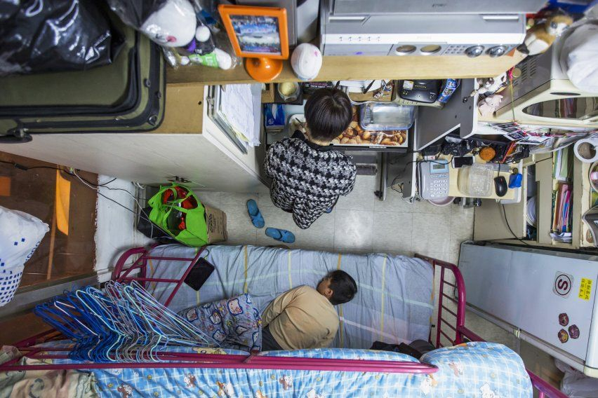 Just Looking At These Tiny Shoebox Apartments In Hong Kong Will Make You Claustrophobic Micro Apartment Tiny Living Space Tiny Apartments