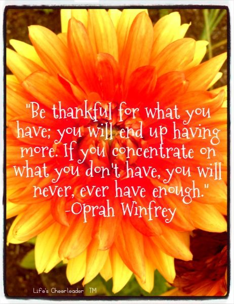 Words of Wisdom | Gratitude quotes, Oprah winfrey life ...