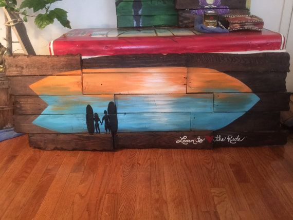 Live the Life You Love Surfboard Art on by TheArtofPeace on Etsy