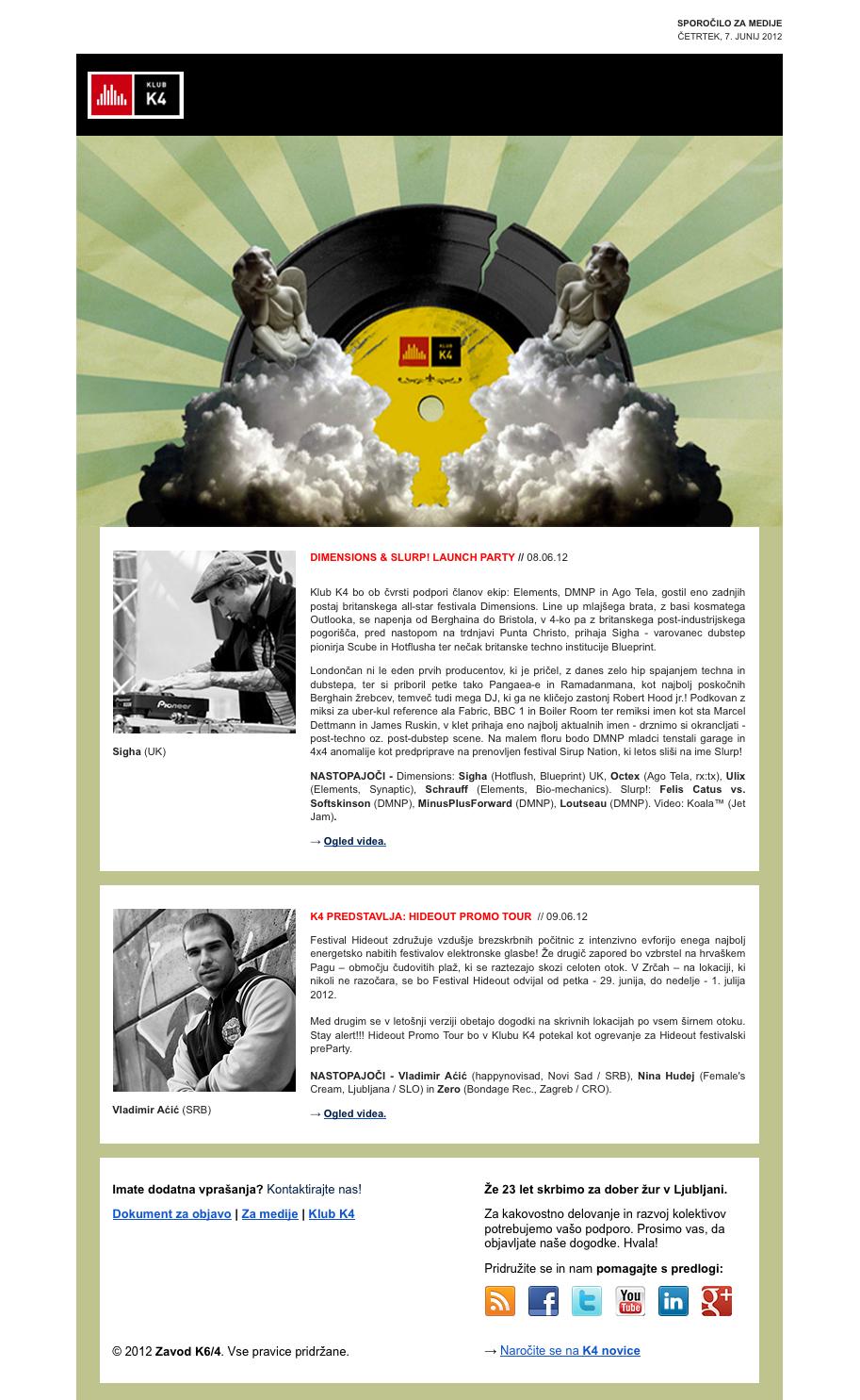 Newsletter: www.klubk4.org