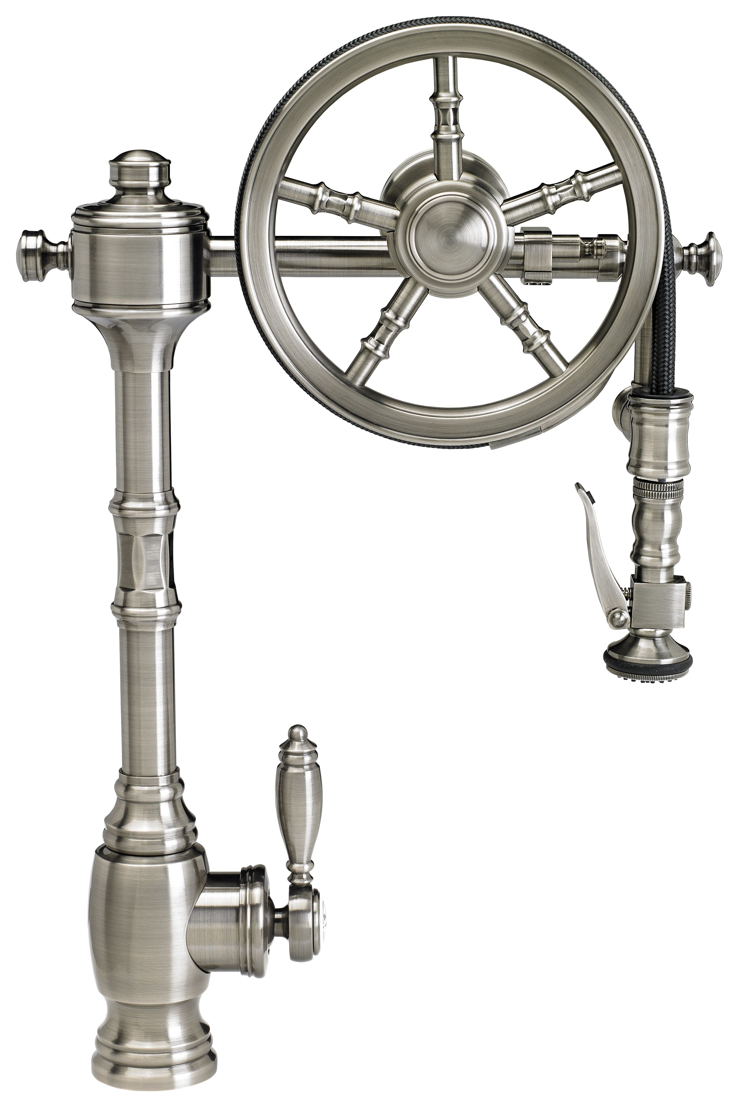 Waterstone Wheel Pull Down Kitchen Faucet 5100 Luxury Pulldown