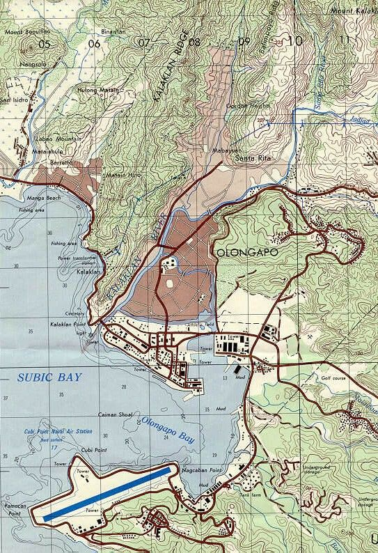 Subic Bay Philippines Map Map of Subic Bay Naval Base and environs. As found on Inter