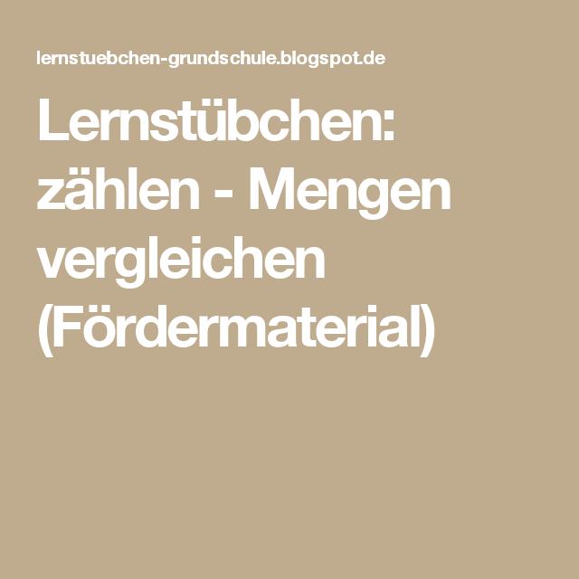 Lernstübchen: zählen - Mengen vergleichen (Fördermaterial ...