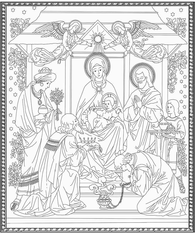 Three Kings Coloring Page ❤ Wise Men From The Orient | 952x796