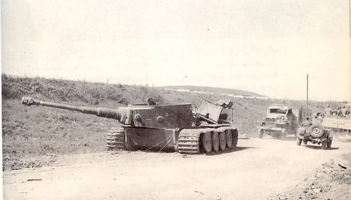 One of seven Tigers destroyed at the Battle of Beja Tunisia March 1943.