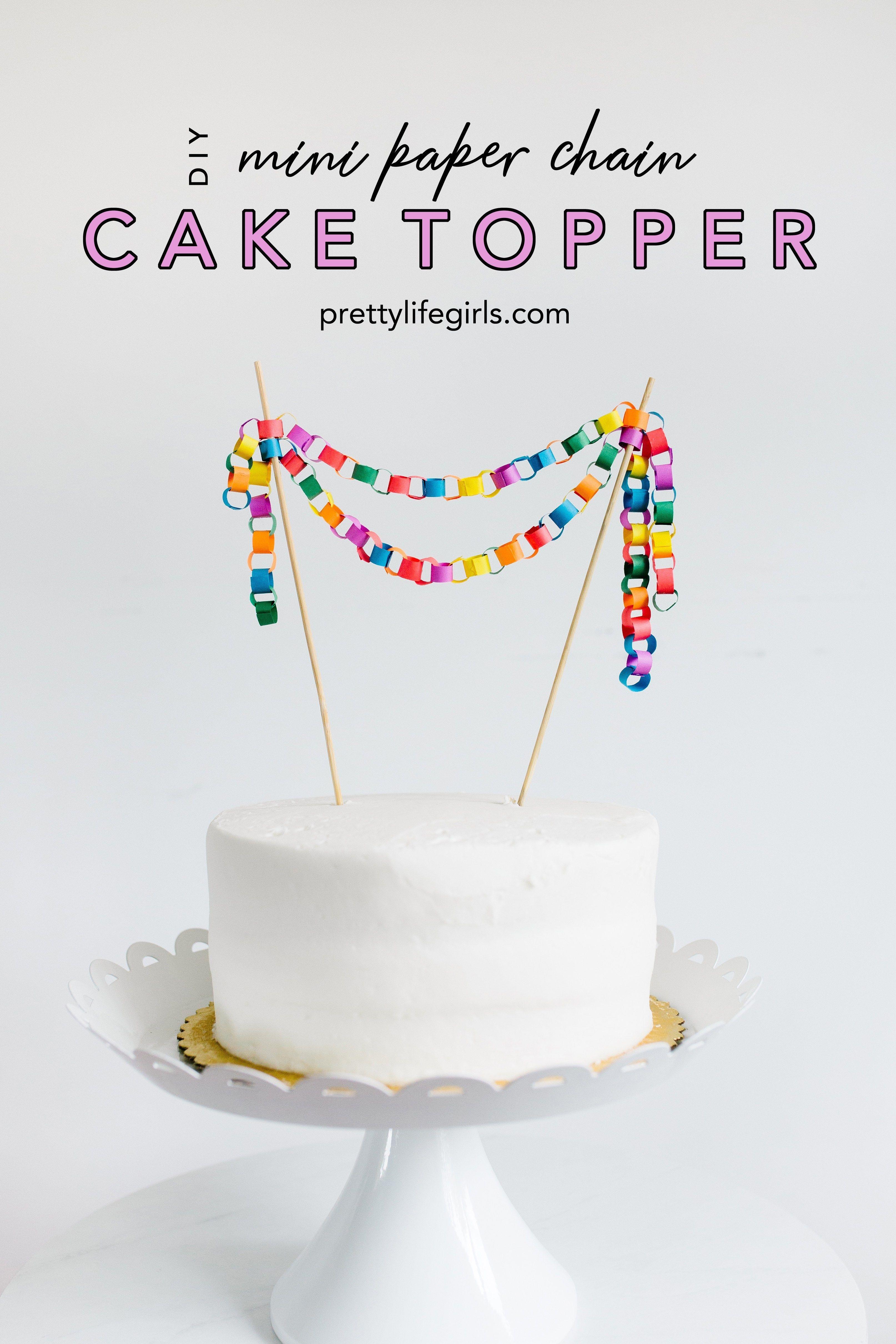 cute mini paper tassel cake topper cake bunting