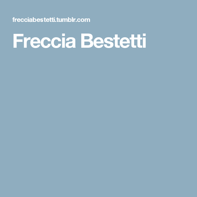 Freccia Bestetti