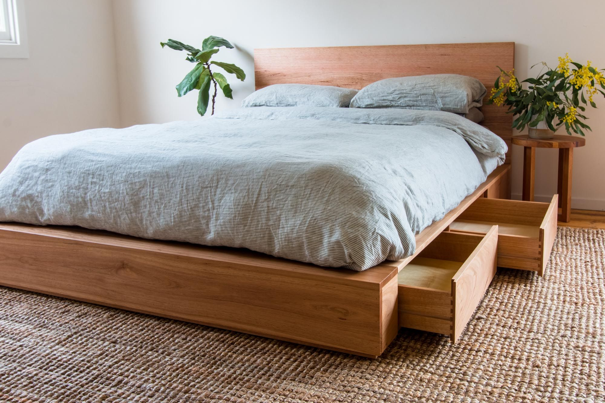 Al and Imo Handmade Recycled Timber Platform Bed with
