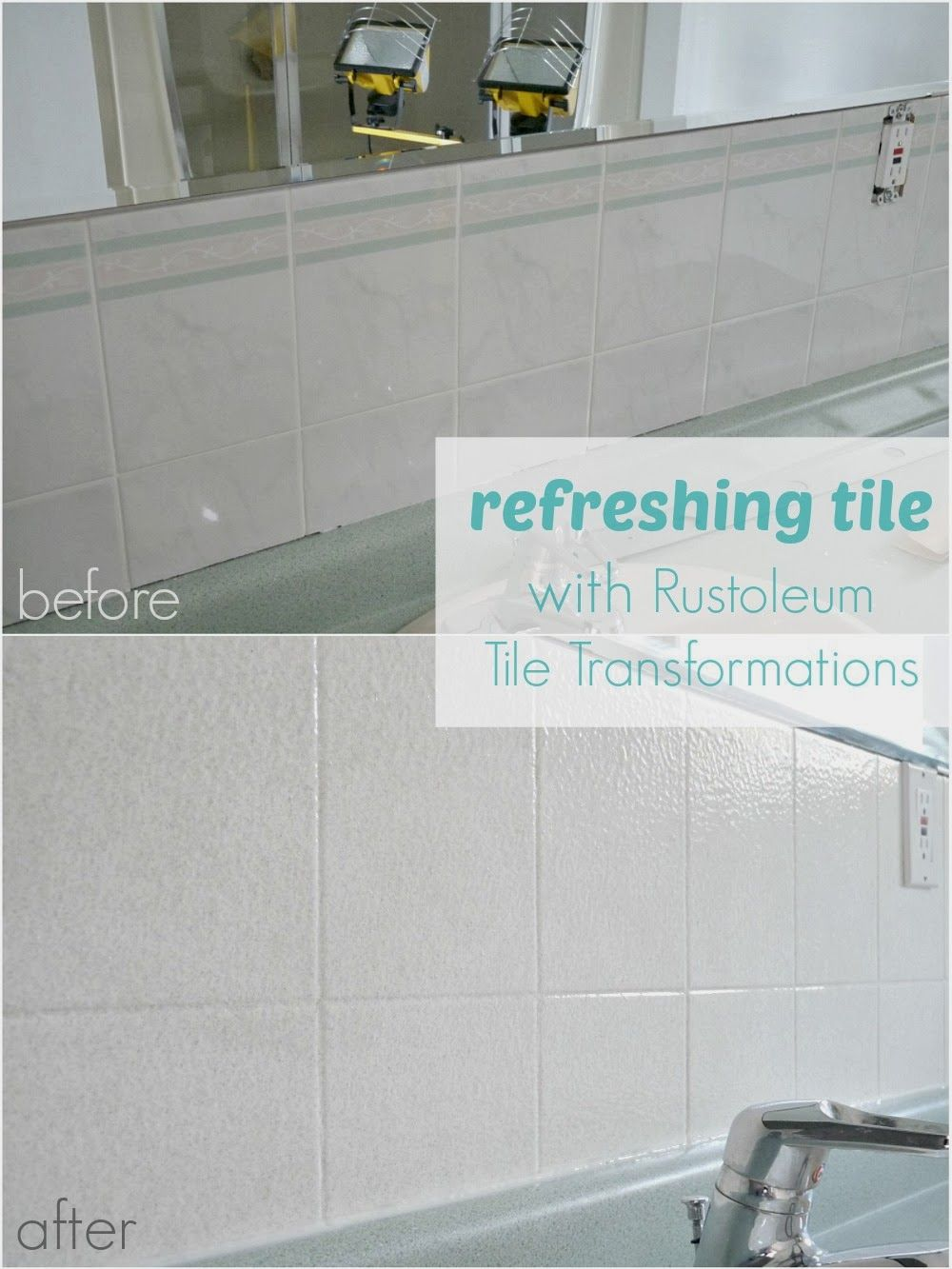 How to Paint Over Dated Ceramic Tile | Room, House and Paint ceramic ...