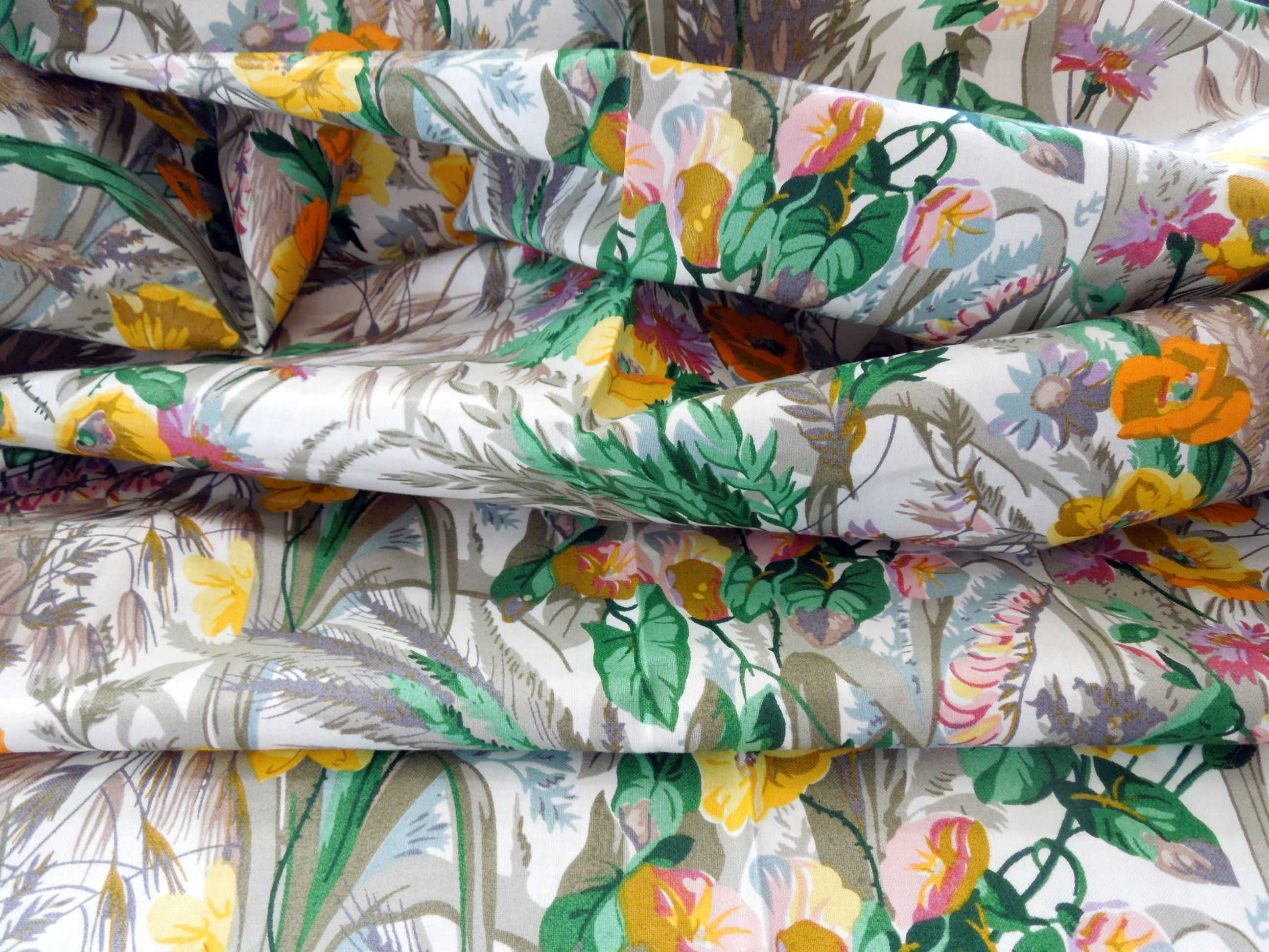 sanderson fabric ceres floral chintz registered design fabric