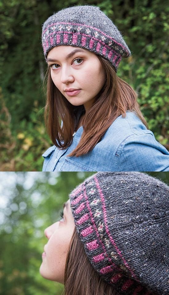 Free Knitting Pattern For A Perennial Beret Patterns Pinterest