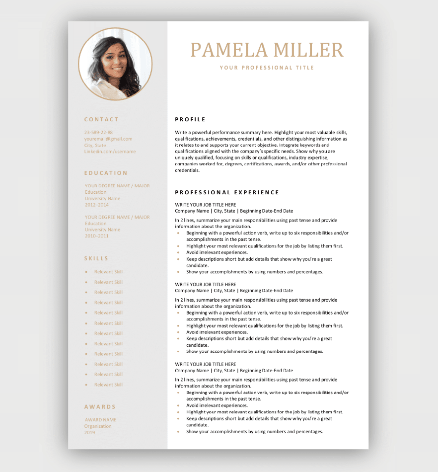 Free Resume Templates Download Now in 2020 Free resume