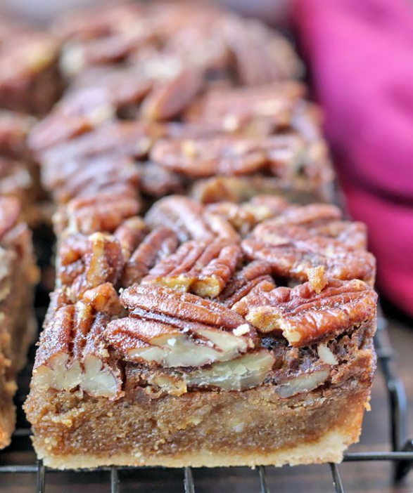 These Paleo Pecan Pie Bars have all the flavors of pecan pie but made