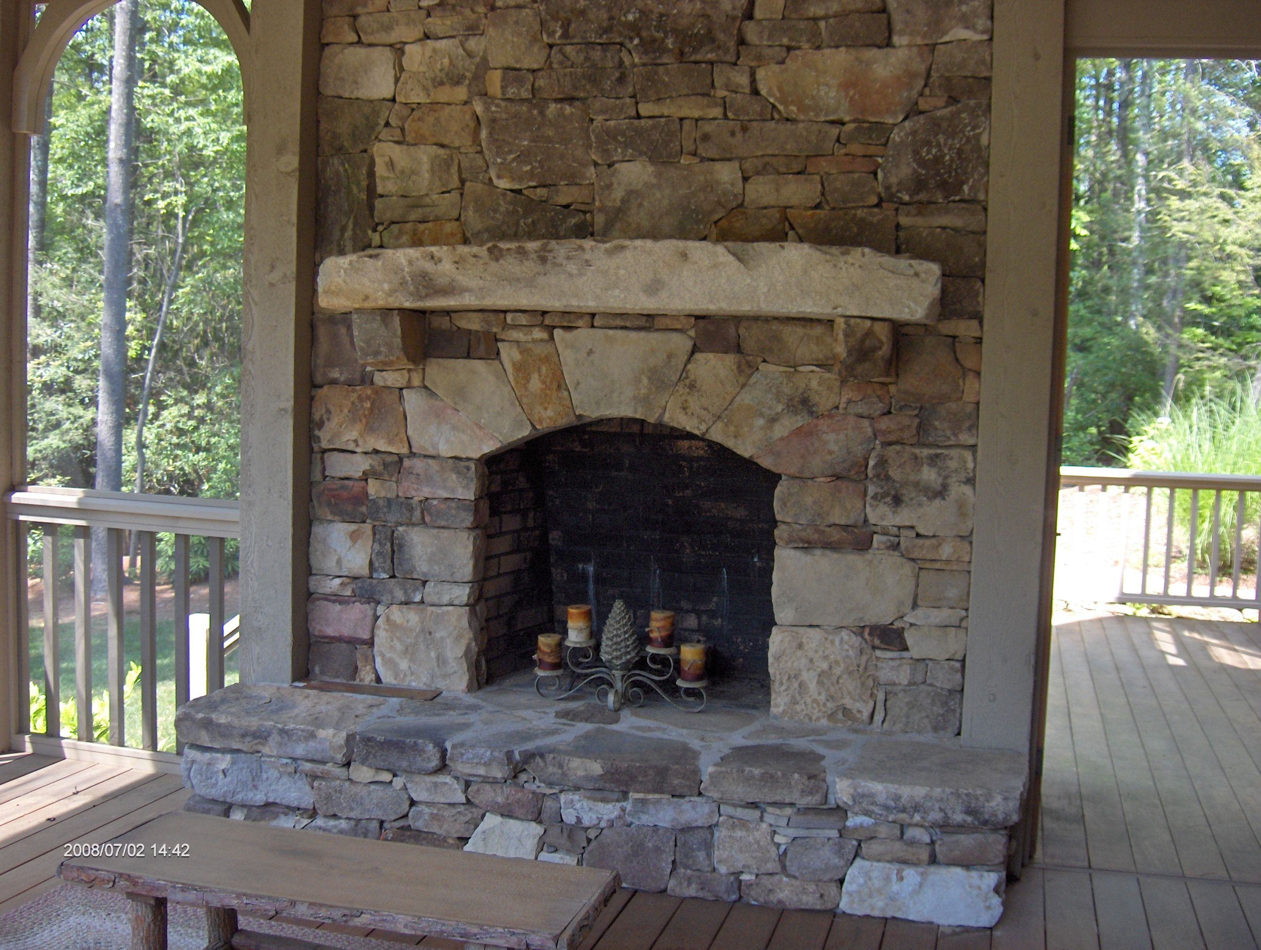 Stacked Stone Fireplace For The Home Pinterest Interiors Inside Ideas Interiors design about Everything [magnanprojects.com]