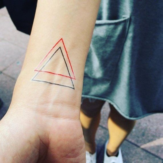 What Does A Double Triangle Tattoo Mean Quora Me Pinterest