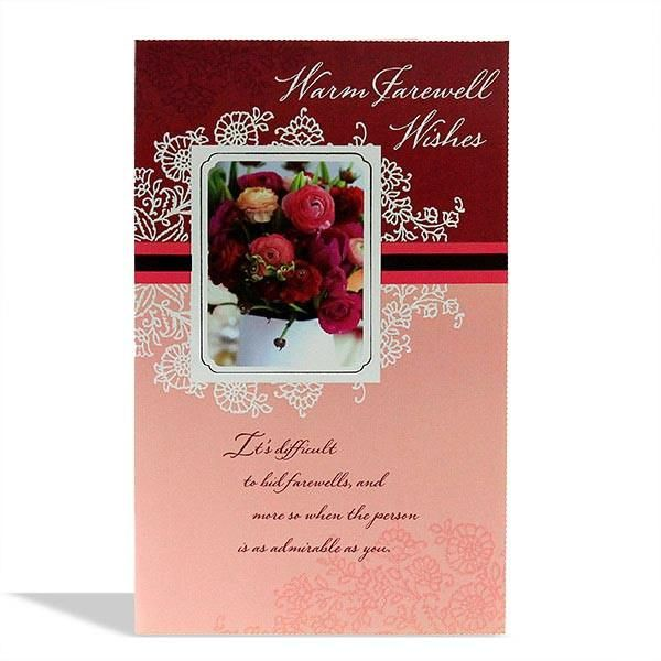 farewell wishes charming card  wish card sizes cards