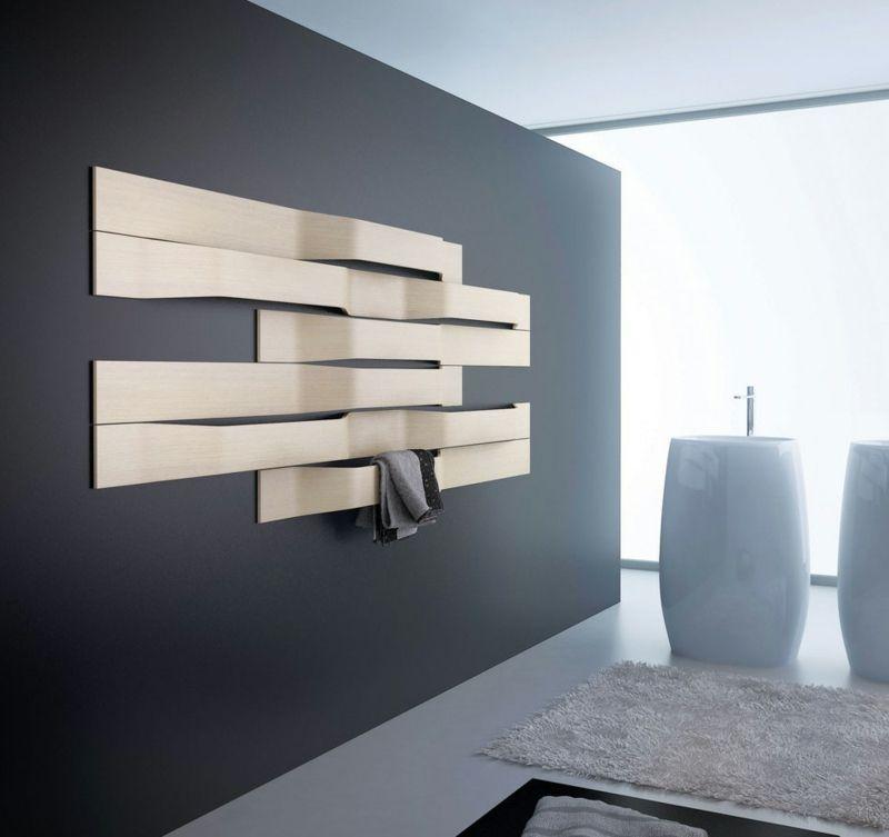 porte-serviette bois clair à montage mural de deisgn moderne Salle - Moderne Wasserhahn Design Ideen