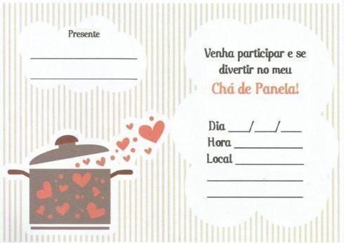Convites Para Cha De Panela Para Imprimir Lds Santos De Los