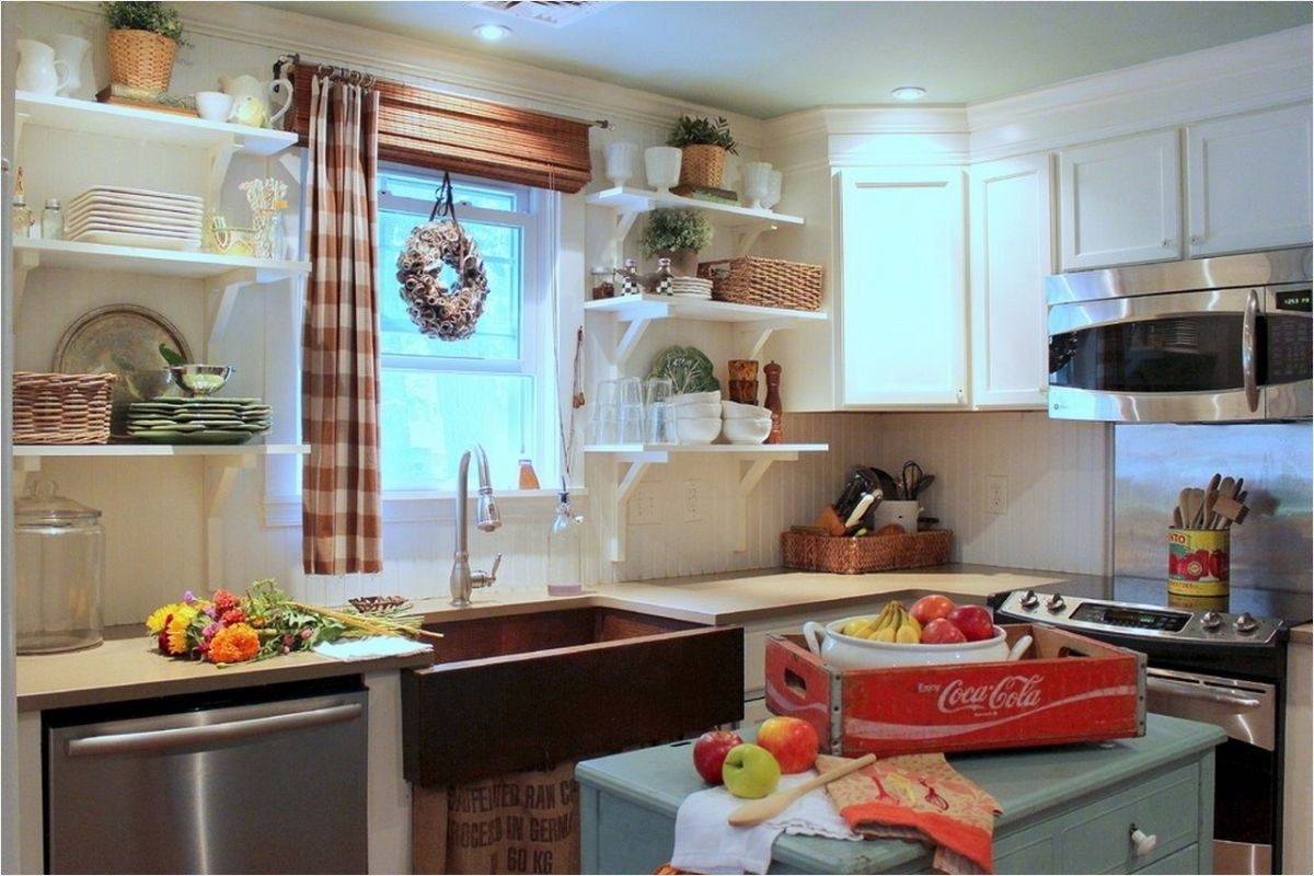 41 Perfect Vintage Farmhouse Kitchen Decorating Ideas   Vintage ...