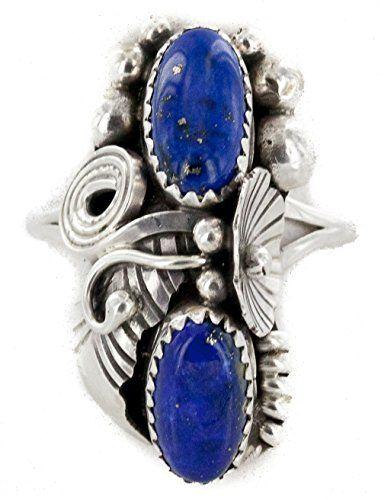 57d0cebc0 Handmade AuthenticNavajo .925 Sterling Silver Natural Lapis Lazuli Native  American Ring