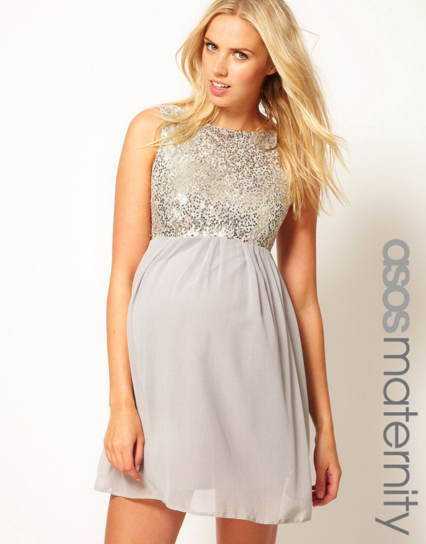 ASOS Maternity Sequin and Chiffon Skater Dress | Maternity ...
