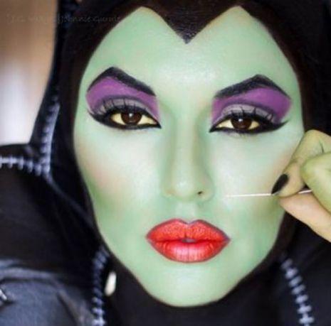 maquillaje de malfica encuentra otras opciones para halloween en http