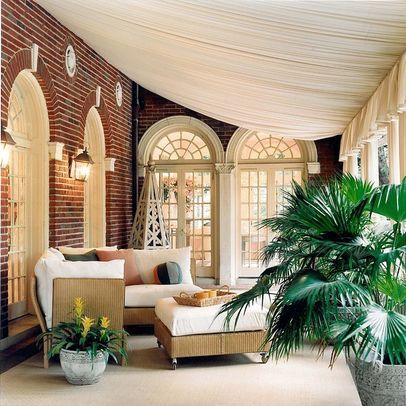 fabric draping porch - Google Search