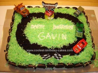 Cool Homemade Disney Cars Racetrack Cake Disney cars cake Car