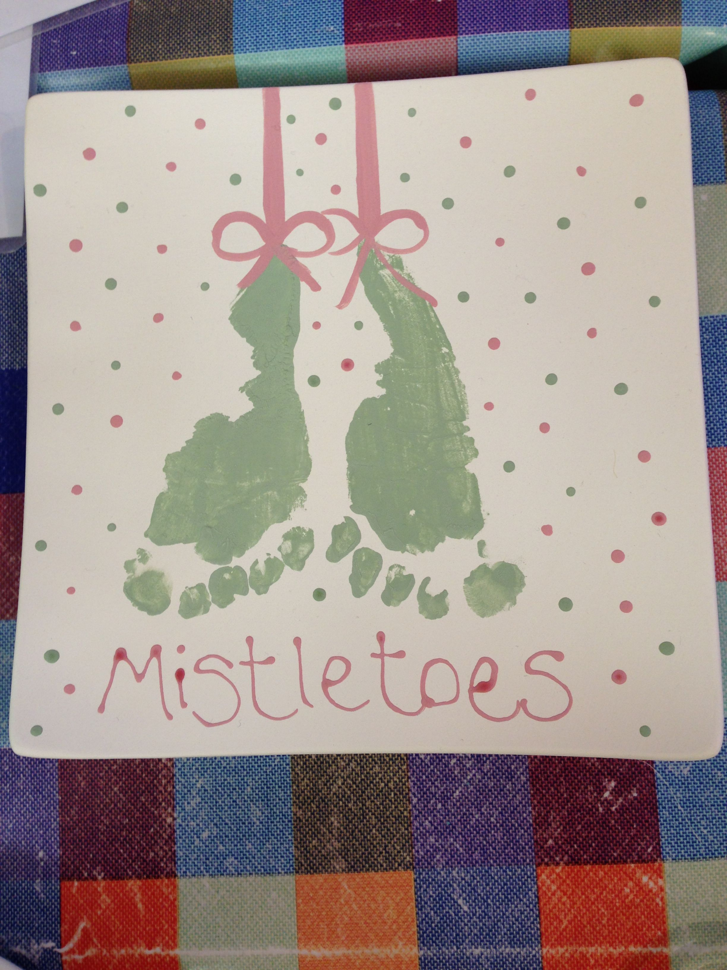 Mistletoes footprint picture #mistletoesfootprintcraft