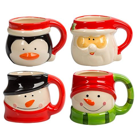 Bulk Dolomite Christmas Character Mugs, 15 oz. at ...