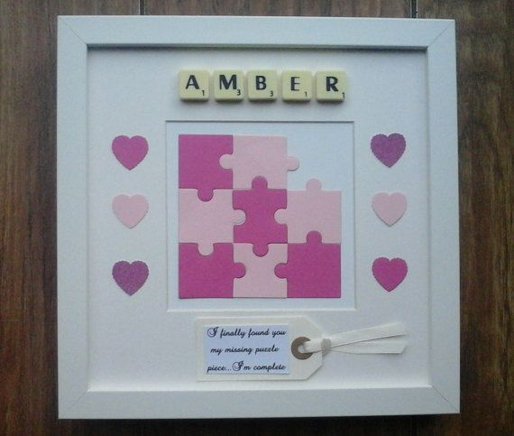 10x10 Frame Plastic X2f Wooden Scrabble Art By Craftylittleboutique Scrabble Art Baby Crafts Box Frames