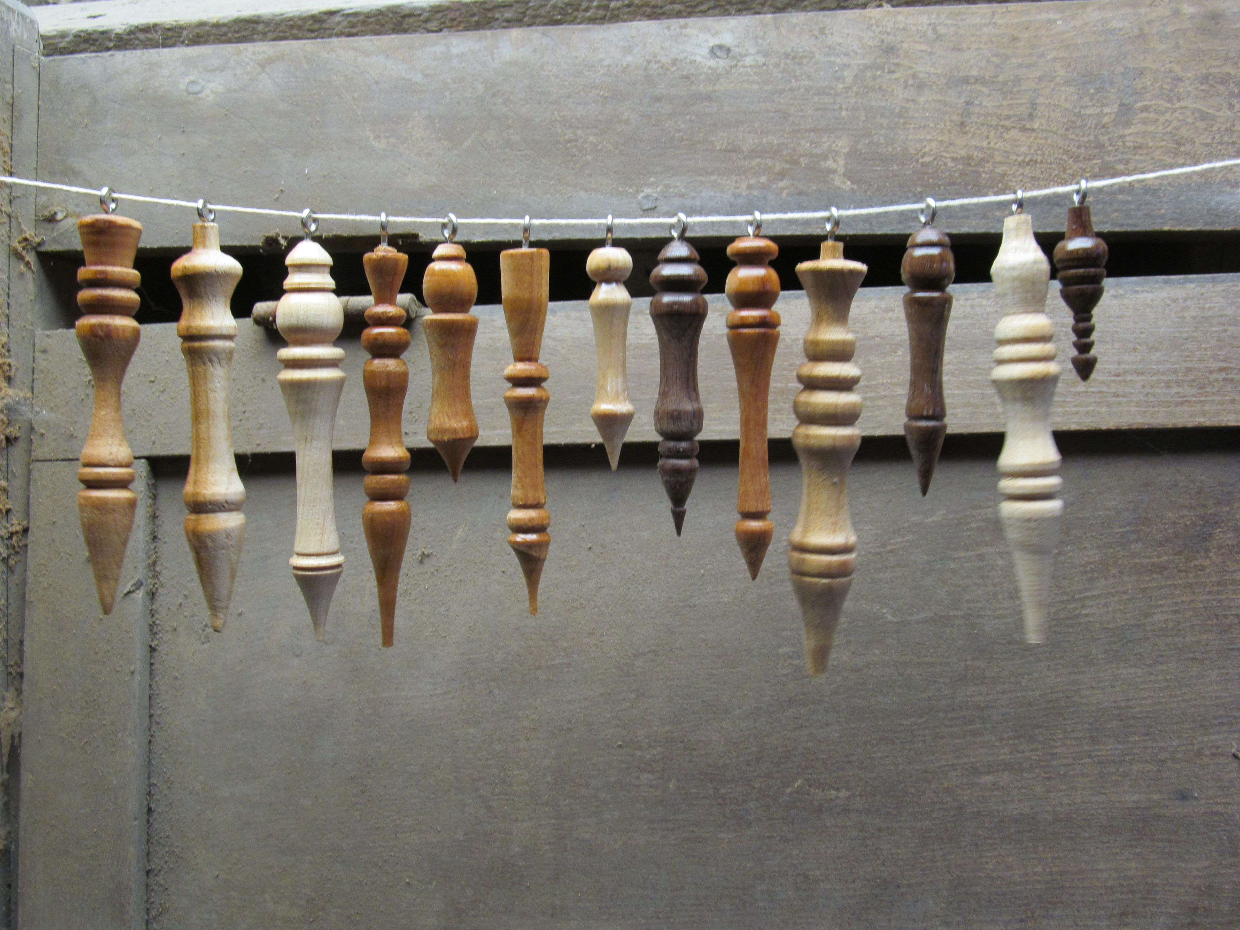 Lathe Turned Wood Icicle Ornaments In Cherry Maple And Walnut Wood Turning Christmas Wood Crafts Wood Turning Projects