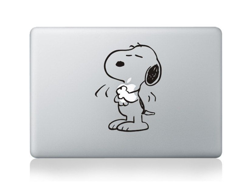 Snoopy decal mac mac decal mac book stickers macbook decals apple decal for macbook