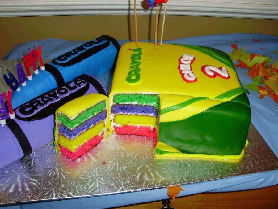 This Amazing Crayola Themed Birthday Cake Is Sure To Be A Hit With The Kids