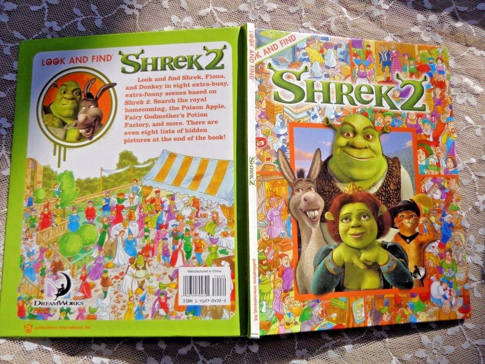 Shriek2 Look And Find Picture Puzzles Characters Items Game Book