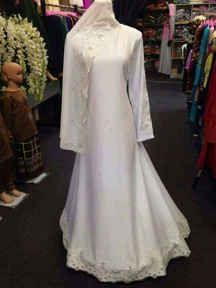 baju nikah putih online | Baju nikah putih in 2019 | Dresses