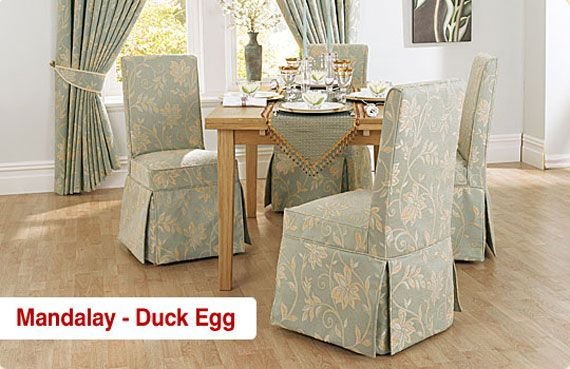Matching Dining Chairs Cover With The Curtain Dining Room Chair